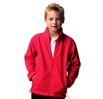 Jerzees Schoolgear Childrens Full Zip Outdoor Fleece - Suffolk Insignia