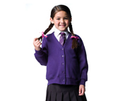 Jerzees Schoolgear Childrens Fleece Cardigan - Suffolk Insignia